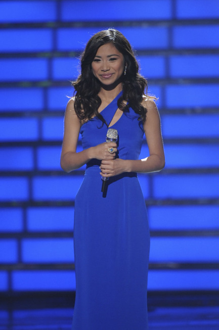 AMERICAN IDOL: Idol Finaist Jessica Sanchez performs during the season 11 AMERICAN IDOL GRAND FINALE at the Nokia Theatre on Weds. May 23, 2012 in Los Angeles, California.  CR: Michael Becker/FOX