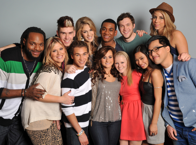 AMERICAN IDOL: Top 12: Clockwise from top right: Elise Testone, Heejun Han, Jessica Sanchez, Hollie Cavanagh, Skylar Laine, DeAndre Brackensick, Erika Van Pelt, Jermaine Jones, Colton Dixon, Shannon Magrane, Joshua Ledet and Phillip Phillips. CR: Michael Becker.