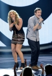 AMERICAN IDOL: L-R: Elise Testone and Phillip Phillips perform in front of the Judges on AMERICAN IDOL airing Wednesday, April 11 (8:00-10:00 PM ET/PT) on FOX. CR: Michael Becker / FOX.