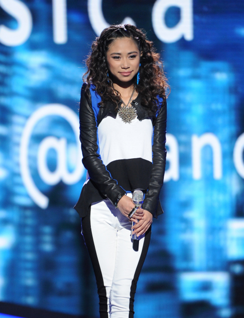AMERICAN IDOL: Jessica Sanchez on AMERICAN IDOL airing Wednesday, May 9 (8:00-10:00 PM ET/PT) on FOX. CR: Michael Becker / FOX.