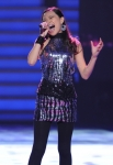 AMERICAN IDOL: Jessica Sanchez performs in front of the Judges on AMERICAN IDOL airing Wednesday, Feb. 29 (8:00-10:00 PM ET/PT) on FOX. CR: Michael Becker / FOX.