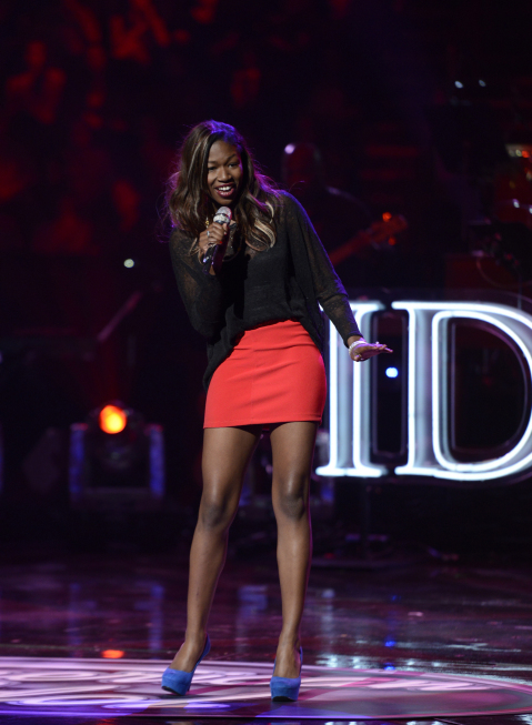 AMERICAN IDOL: Amber Holcomb performs in the Sudden Death Round of AMERICAN IDOL airing Wednesday, Feb. 20 (8:00-10:00PM ET/PT) on FOX. CR: Michael Becker / FOX. copyright / FOX