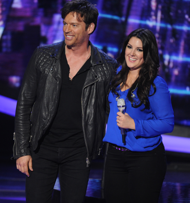 AMERICAN IDOL: Harry Connick, Jr. and Kree Harrison on AMERICAN IDOL Wednesday, May 1 (8:00-10:00 PM ET/PT) on FOX. CR: Michael Becker/ FOX. Copyright: FOX.