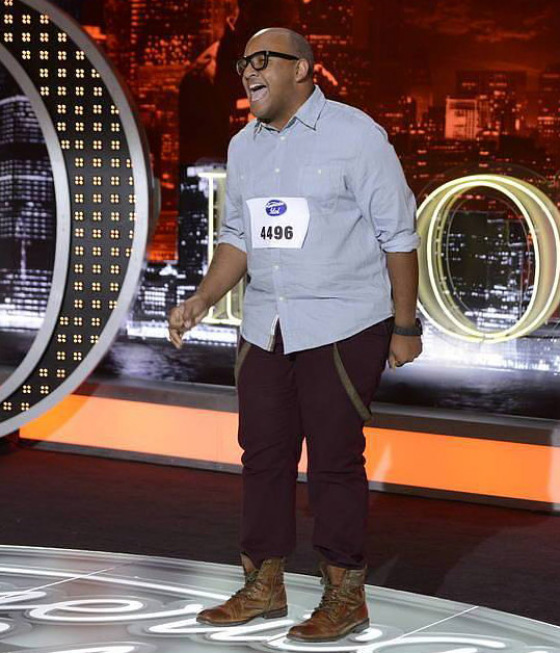 American Idol: Top 40: Vincent Powell, 29, from Austin, TX. ©2013 Fox Broadcasting Co. CR: Michael Becker / FOX.