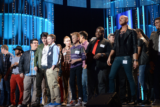 """AMERICAN IDOL: Drama and desperation escalate behind the scenes as the pressure mounts during the intense """"Hollywood Rounds"""" which kick off with the guys, competing on Wednesday, Feb. 6 (8:00-10:00 PM ET/PT) and Thursday, Feb. 7 (8:00-9:00 PM ET/PT). The girls get their chance to win over the judges beginning Wednesday, Feb. 13 (8:00-10:00 PM ET/PT) ©2013 Fox Broadcasting Co. CR: Michael Becker / FOX."""