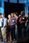 "AMERICAN IDOL: Drama and desperation escalate behind the scenes as the pressure mounts during the intense ""Hollywood Rounds"" which kick off with the guys, competing on Wednesday, Feb. 6 (8:00-10:00 PM ET/PT) and Thursday, Feb. 7 (8:00-9:00 PM ET/PT). The girls get their chance to win over the judges beginning Wednesday, Feb. 13 (8:00-10:00 PM ET/PT) ©2013 Fox Broadcasting Co. CR: Michael Becker / FOX."