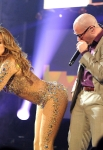 LOS ANGELES, CA - NOVEMBER 20:  Jennifer Lopez and Pitbull perform onstage at the Nokia Theatre L.A. LIVE on November 20, 2011 in Los Angeles, California.  (Photo by Jeff Kravitz/AMA2011/FilmMagic)