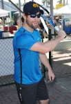 DELRAY BEACH, FL - NOVEMBER 12: David Cook attends the Chris Evert/Raymond James Pro-Celebrity Tennis Classic at Delray Beach Tennis Center on November 12, 2011 in Delray Beach, Florida. (Photo by Larry Marano/WireImage) *** Local Caption *** David Cook;