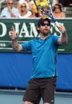 DELRAY BEACH, FL - NOVEMBER 12:  David Cook participates in the Chris Evert/Raymond James Pro-Celebrity Tennis Classic at Delray Beach Tennis Center on November 12, 2011 in Delray Beach, Florida.  (Photo by Elizabeth Burks/Getty Images) *** Local Caption *** David Cook;
