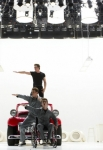 "GLEE: The boys perform in the ""Glease"" episode of GLEE airing Thursday, Nov. 15 (9:00-10:00 PM ET/PT) on FOX. L-R: Jacob Artist, Blake Jenner (top), Cory Monteith (top C), Kevin McHale (bottom C), Samuel Larsen, Harry Shum Jr. and Chord Overstreet. ©2012 Fox Broadcasting Co. CR: Adam Rose/FOX"