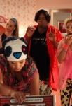 "GLEE: Kitty (Becca Tobin, second from L) has a slumber party in the ""Glease"" episode of GLEE airing Thursday, Nov. 15 (9:00-10:00 PM ET/PT) on FOX. Also pictured L-R: Melissa Benoist, Jenna Ushkowitz, Alex Newell and Vanessa Lengies. ©2012 Fox Broadcasting Co. CR: Beth Dubber/FOX"