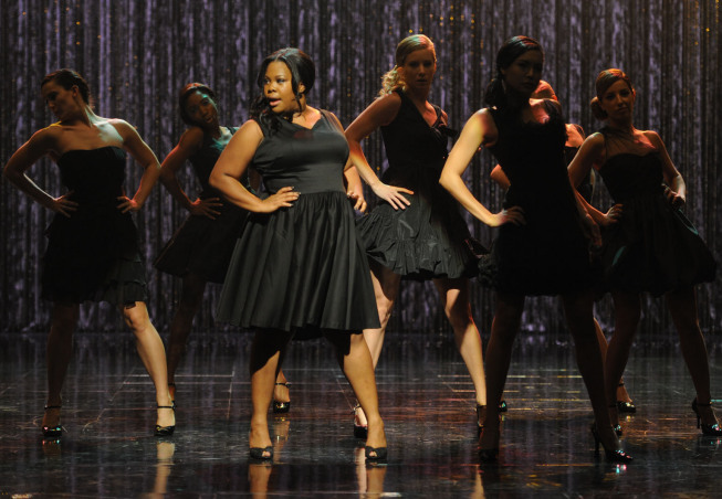 GLEE: Amber Riley as Mercedes (C) performs the 300th song of the series at Paramount Studios on Wednesday, Oct. 26th. © Fox Broadcasting Co. Cr: Frank Micelotta/FOX