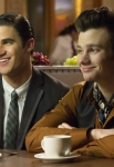 GLEE: Blaine (Darren Criss, L) and Kurt (Chris Colfer, R) meet up at BreadStix in the