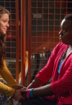 "GLEE: Marley (Melissa Benoist, L) and Unique (Alex Newell, R) have a heart to heart talk in the ""All Or Nothing"" season finale episode of GLEE airing Thursday, May 9 (9:00-10:00 PM ET/PT) on FOX. ©2013 Fox Broadcasting Co. CR: Eddy Chen/FOX"