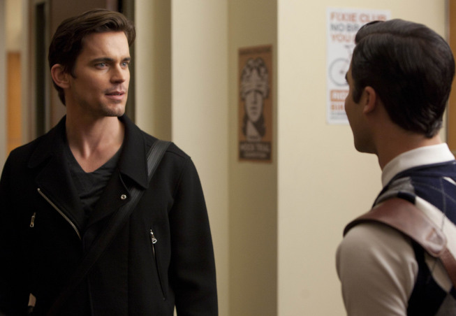 "GLEE: Blaine's (Criss Darren, R) older  brother Cooper (guest star Matt Bomer, L) visits in ""Big Brother,"" the Spring Premiere episode of GLEE airing Tuesday, April 10 (8:00-9:00 PM ET/PT) on FOX. ©2012 Fox Broadcasting Co. Cr: Adam Rose/FOX"
