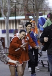 "GLEE: Members of the glee club (L-R: Vanessa Lengies, Naya Rivera, Heather Morris, Harry Shum Jr. and Mark Salling) go to an amusement park for senior ditch day in ""Big Brother,"" the Spring Premiere episode of GLEE airing Tuesday, April 10 (8:00-9:00 PM ET/PT) on FOX. ©2012 Fox Broadcasting Co. Cr: Jordin Althaus/FOX"