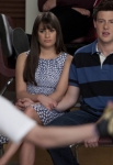 "GLEE: Rachel (Lea Michele, L) and Finn (Cory Monteith, R) watch Artie perform in ""Big Brother,"" the Spring Premiere episode of GLEE airing Tuesday, April 10 (8:00-9:00 PM ET/PT) on FOX. ©2012 Fox Broadcasting Co. Cr: Adam Rose/FOX"