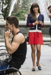 """GLEE: Rachel (Lea Michele, R) runs into Brody (Dean Geyer, L) on the streets of New York in the """"Britney 2.0"""" episode of GLEE airing Thursday, Sept. 20 (9:00-10:00 PM ET/PT) on FOX. ©2012 Fox Broadcasting Co. Cr: David Giesbrecht/FOX"""