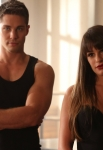 """GLEE: Rachel (Lea Michele, R) and Brody (Dean Geyer, L) partner up for a dance in the """"Britney 2.0"""" episode of GLEE airing Thursday, Sept. 20 (9:00-10:00 PM ET/PT) on FOX. ©2012 Fox Broadcasting Co. Cr: Mike Yarish/FOX"""
