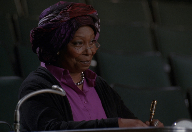 "GLEE: Whoopi Goldberg guest-stars as Carmen in the ""Choke"" episode of GLEE airing Tuesday, May 1 (8:00-9:00 PM ET/PT) on FOX. ©2012 Fox Broadcasting Co. Cr: FOX"