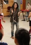 "GLEE: Brittany (Heather Morris, L), Joe (guest star Samuel Larsen, C) and Tina (Jenna Ushkowitz, R) perform in the ""Dance With Somebody"" episode of GLEE airing Tuesday, April 24 (8:00-9:00 PM ET/PT) on FOX. ©2012 Fox Broadcasting Co. Cr: Beth Dubber/FOX"