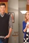 GLEE: Finn (Cory Monteith, L) and Emma (Jayma Mays, R) challenge the glee club to find their inner powerhouses for