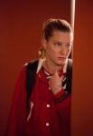 GLEE: Brittany (Heather Morris) watches a performance in the