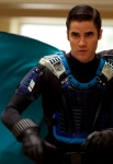 "GLEE: Blaine (Darren Criss) joins a superhero club in the all-new  ""Dynamic Duets"" episode of GLEE airing Thanksgiving night Thursday, Nov. 22 (9:00-10:00 PM ET/PT) on FOX. ©2012 Fox Broadcasting Co. CR: Adam Rose/FOX"