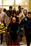 "GLEE: The glee club joins a superhero club in the all-new ""Dynamic Duets"" episode of GLEE airing Thanksgiving night Thursday, Nov. 22 (9:00-10:00 PM ET/PT) on FOX. ©2012 Fox Broadcasting Co. CR: Adam Rose/FOX"