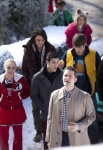 "GLEE: Will (Matthew Morrison, front) brings the glee club along to serenade Emma in the ""Girls (And Boys) On Film"" episode of GLEE  airing at a special time Thursday, March 7 (9:30-10:30 PM ET/PT) on FOX. Also pictured back to front: Kevin McHale, Vanessa Lengies, Samuel Larsen, Blake Jenner, Darren Criss and Becca Tobin. ©2013 Fox Broadcasting Co. CR: Adam Rose/FOX"