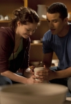 "GLEE: Marley (Melissa Benoist, L) and Jake (Jacob Artist, R) make pottery together in the ""Girls (And Boys) On Film"" episode of GLEE  airing at a special time Thursday, March 7 (9:30-10:30 PM ET/PT) on FOX. ©2013 Fox Broadcasting Co. CR: Adam Rose/FOX"