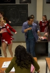 "GLEE: The glee club performs in the ""Girls (And Boys) On Film"" episode of GLEE airing at a special time Thursday, March 7 (9:30-10:30 PM ET/PT) on FOX. Pictured L-R: Chord Overstreet, Jenna Ushkowitz, Darren Criss, Heather Morris, Jacob Artist and Melissa Benoist. ©2013 Fox Broadcasting Co. CR: Adam Rose/FOX"