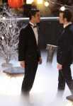 "GLEE: Blaine (Darren Criss, L) and Kurt (Chris Colfer, R) perform in the ""Girls (And Boys) On Film"" episode of GLEE  airing at a special time Thursday, March 7 (9:30-10:30 PM ET/PT) on FOX. ©2013 Fox Broadcasting Co. CR: Adam Rose/FOX"