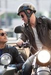 "GLEE: Puck (Mark Salling, R) invites his brother Jake (Jacob Artist, L) to Los Angeles in the ""Glee, Actually"" episode of GLEE airing Thursday, Dec. 13 (9:00-10:00 PM ET/PT) on FOX. ©2012 Fox Broadcasting Co. CR: Eddy Chen/FOX"