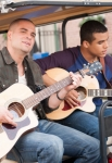 "GLEE: Puck (Mark Salling, L) and his brother Jake (Jacob Artist, R) perform in the ""Glee, Actually"" episode of GLEE airing Thursday, Dec. 13 (9:00-10:00 PM ET/PT) on FOX. ©2012 Fox Broadcasting Co. CR: Eddy Chen/FOX"