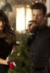 "GLEE: Rachel (Lea Michele, L) and Kurt (Chris Colfer, R) celebrate the holidays in the ""Glee, Actually"" episode of GLEE airing Thursday, Dec. 13 (9:00-10:00 PM ET/PT) on FOX. ©2012 Fox Broadcasting Co. CR: Adam Rose/FOX"