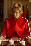 "GLEE: Sue (Jane Lynch) gets into the holiday spirit in the ""Glee, Actually"" episode of GLEE airing Thursday, Dec. 13 (9:00-10:00 PM ET/PT) on FOX. ©2012 Fox Broadcasting Co. CR: Adam Rose/FOX"
