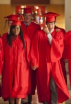 "GLEE: The Seniors from McKinley High graduate in the ""Goodbye"" season finale episode of GLEE airing Tuesday, May 22 (9:00- 10:00 PM ET/PT) on FOX. Pictured L-R: Lea Michele, Amber Riley, Cory Monteith, Harry Shum Jr. and Dianna Agron.  ©2012 Fox Broadcasting Co. CR: Adam Rose/FOX"