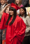 "GLEE: Rachel (Lea Michele) graduates in the ""Goodbye"" season finale episode of GLEE airing Tuesday, May 22 (9:00- 10:00 PM ET/PT) on FOX.  ©2012 Fox Broadcasting Co. CR: Adam Rose/FOX"