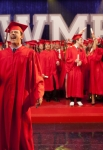 """GLEE: Finn (Cory Monteith, R) accepts his graduation diploma from Emma (Jayma Mays, L) in the """"Goodbye"""" season finale episode of GLEE airing Tuesday, May 22 (9:00- 10:00 PM ET/PT) on FOX. Pictured L-R: Lea Michele, Amber Riley, Cory Monteith, Harry Shum Jr. and Dianna Agron. ©2012 Fox Broadcasting Co. CR: Adam Rose/FOX"""