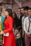 """GLEE: Finn (Cory Monteith, L) and the glee club send Rachel (Lea Michele, C) off to New York in the in the """"Goodbye"""" season finale episode of GLEE airing Tuesday, May 22 (9:00- 10:00 PM ET/PT) on FOX. Also pictured L-R: Chord Overstreet, Amber Riley, Samuel Larsen, Damian McGuinty, Harry Shum Jr., Darren Criss, Mark Salling and Chris Colfer. ©2012 Fox Broadcasting Co. CR: Adam Rose/FOX"""