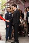 """GLEE: Rachel (Lea Michele, L) says goodbye to Finn (Cory Monteith, third from L) and the rest of the glee club as she heads to New York in the """"Goodbye"""" season finale episode of GLEE airing Tuesday, May 22 (9:00- 10:00 PM ET/PT) on FOX. Also pictured L-R: Heather Morris, Matthew Morrison, Jayma Mays, Chord Overstreet, Dianna Agron, Amber Riley, Kevin McHale, Samuel Larsen, Damian McGuinty, Harry Shum Jr., Darren Criss, Mark Salling and Chris Colfer. ©2012 Fox Broadcasting Co. CR: Adam Rose/FOX"""