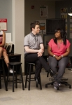 "GLEE: The glee club hang out in the choir room in the ""Goodbye"" season finale episode of GLEE airing Tuesday, May 22 (9:00- 10:00 PM ET/PT) on FOX. Pictured L-R: Dianna Agron, Heather Morris, Naya Rivera, Chris Colfer, Amber Riley and Kevin McHale. ©2012 Fox Broadcasting Co. CR: Adam Rose/FOX"