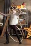 "GLEE: Kurt (Chris Colfer) dances with hula hoops in the ""Guilty Pleasure"" episode of GLEE airing Thursday, March 21 (9:00-10:00 PM ET/PT) on FOX. ©2013 Fox Broadcasting Co. Cr: Adam Rose/FOX"