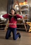 "GLEE: Santana (Naya Rivera) dances in the ""Guilty Pleasure"" episode of GLEE airing Thursday, March 21 (9:00-10:00 PM ET/PT) on FOX. ©2013 Fox Broadcasting Co. Cr: Adam Rose/FOX"