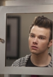 "GLEE: Kurt (Chris Colfer) checks himself out in the ""Guilty Pleasures"" episode of GLEE airing Thursday, March 21 (9:00-10:00 PM ET/PT) on FOX. ©2013 Fox Broadcasting Co. CR: Adam Rose/FOX"