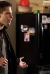 "GLEE: Rachel (Lea Michele, R) confronts Brody (Dean Geyer, L) in the ""Guilty Pleasures"" episode of GLEE airing Thursday, March 21 (9:00-10:00 PM ET/PT) on FOX. ©2013 Fox Broadcasting Co. CR: Adam Rose/FOX"