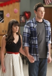"GLEE: Rachel (Lea Michele, L) and Finn (Cory Monteith, R) announce their engagement to the class in the ""Heart"" episode of GLEE airing Tuesday, Feb. 14 (8:00-9:00 PM ET/PT) on FOX. ©2012 Fox Broadcasting Co. CR: Adam Rose/FOX"