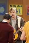 "GLEE: Sam (Chord Overstreet, C) returns to the glee club in the ""Hold on to Sixteen"" episode of GLEE airing Tuesday, Dec. 6 (8:00-9:00 PM ET/PT) on FOX. ©2011 Fox Broadcasting Co. Cr: Adam Rose/FOX"
