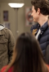 "GLEE: Sam (Chord Overstreet, L) returns to the glee club in the ""Hold on to Sixteen"" episode of GLEE airing Tuesday, Dec. 6 (8:00-9:00 PM ET/PT) on FOX. ©2011 Fox Broadcasting Co. Cr: Adam Rose/FOX"